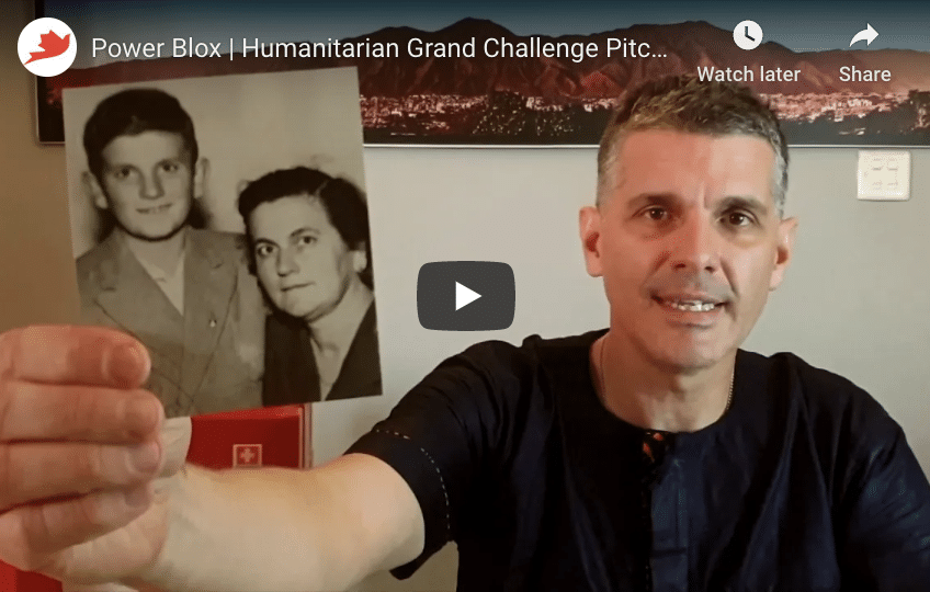 Lifeline & Power-Blox Pitch Pay-As-You-Go Power in Humanitarian Grand Challenge